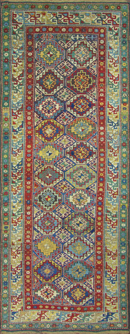 Antique Kuba Long Rug