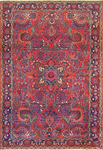 Distinguished Persian Sarouk Rug