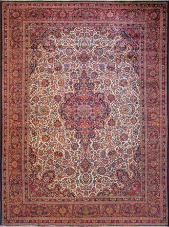Classic Ivory Persian Kashan