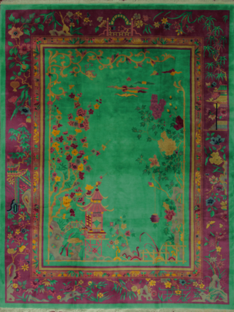 An Art Deco Chinese Carpet