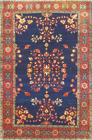 Antique super Fune Feraghan Sarouk Rug