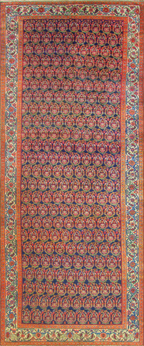 Antique Persian Senneh Malayer Carpet