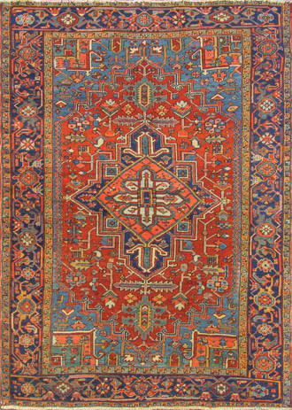 Attractive Antique Persian Heriz Carpet