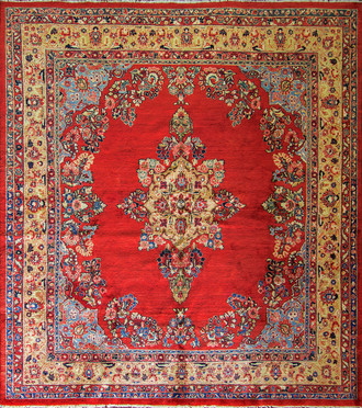 Sarouk Carpet, Squre