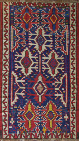 Antique Kuba Caucasian Kilim