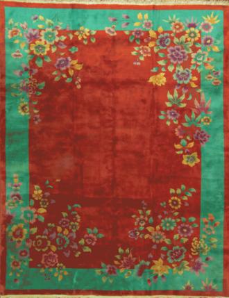 An Art Deco Chinese Carpet