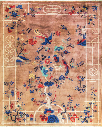 Exceptional Antique Art Deco Chinese Carpet