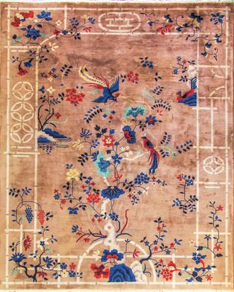 Exceptional Antique Art Deco Chinese Carpet