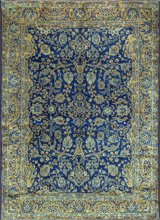Antique Persian Laver Kerman Carpet