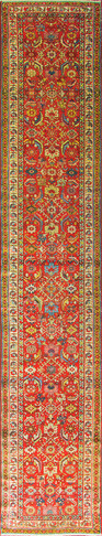 Antique Persian Heriz Runner, Persia