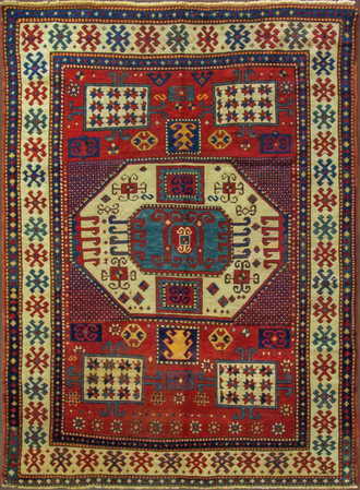 Antique Karachop Kazak Rug