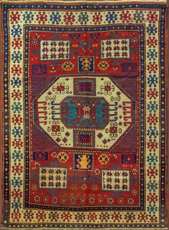 Antique Karachop Kazak Rug