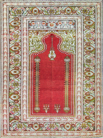 A Silk Kayseri Turkish Rug