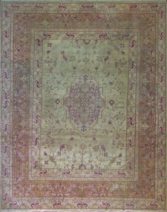 Antique Amritsar/ Agra Carpet, 10' x 13'
