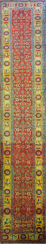 Antique Persian Bijar Runner Gallery Carpet
