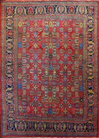 Antique Persian Bijar Halwai Carpet