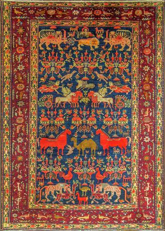 A Persian Silk Feraghan Rug