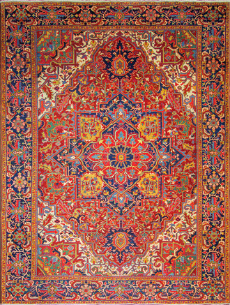 Chromatic Persian Heriz Carpet