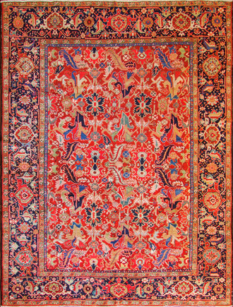 Incredible Antique Persian Heriz