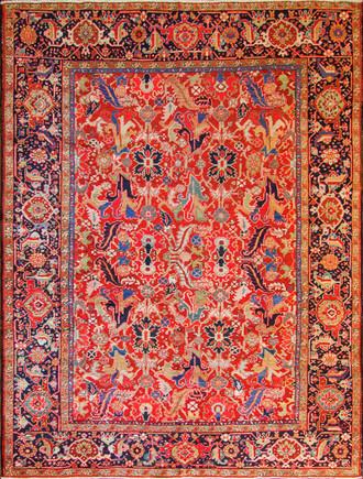 Incredible Antique Persian Heriz