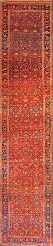 Spectacular Antique Kurdish Bidjar Runner