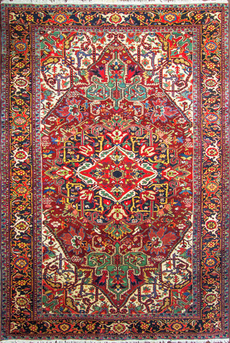 Striking Persian Heriz Carpet