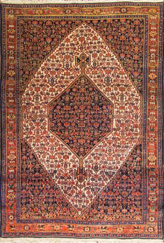 Antique kurdish Senneh rug