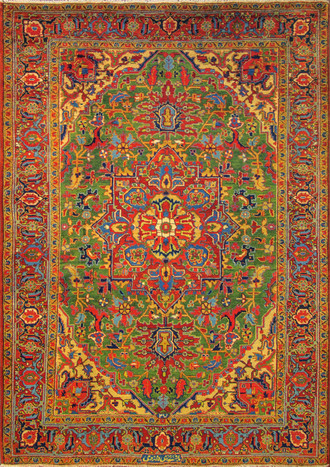 Persian Heriz Carpet, Singed.