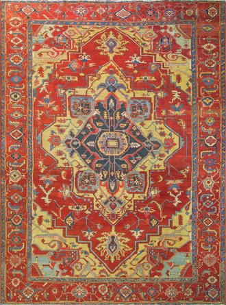 Most Wonderful Antique Serapi Carpet