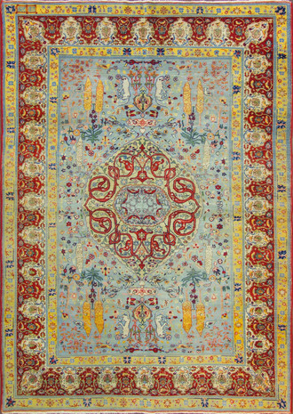 Stunning Antique Hereke Carpet
