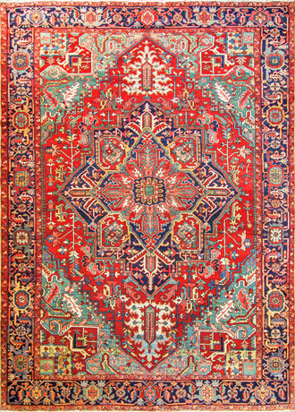 Charming Antique Persian Heriz