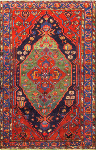 Unusual Persian Bakhtiari Rug