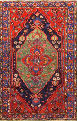 Unusual Persian Bakhtiari Rug
