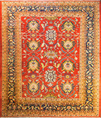 Stunning Antique Persian Sultanabad Carpet