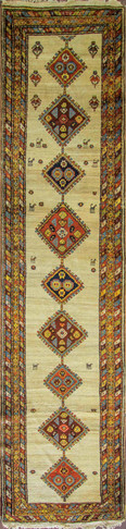 Unusual Antique Azerbaijan Runner