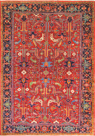 """Tree of Life"" Persian Heriz Rug"