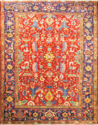 Stunning Dragon Heriz Carpet