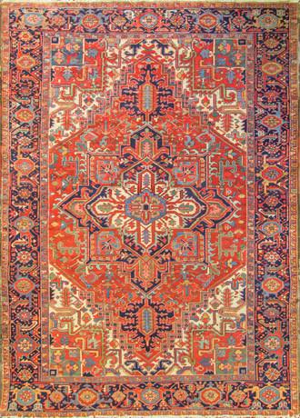 Gorgeous Antique Persian Heriz Carpet