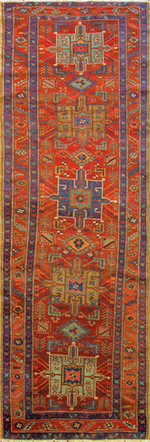 Stunning Antique Serapi Heriz Runner