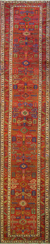 Amazing Antique Persian Heriz Runner