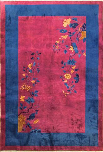 Fabulous Antique Art Deco Chinese Carpet