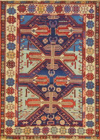 Amazing Antique Caucasian Shirvan Rug