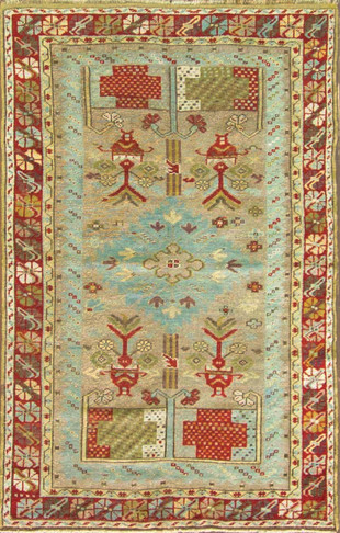 Amazing Antique Ghiordes Rug