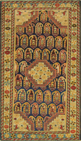 Amazing Antique Caucasian Khile Rug