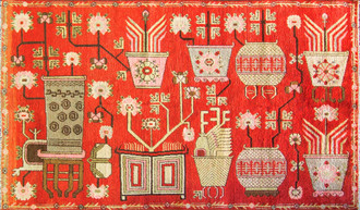 Magnificent Antique Khotan Carpet