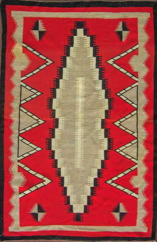 Unusual Eye-dazzler Navajo Rug