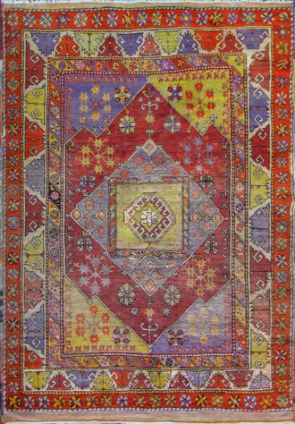Amazing Antique Turkish Oushak Rug