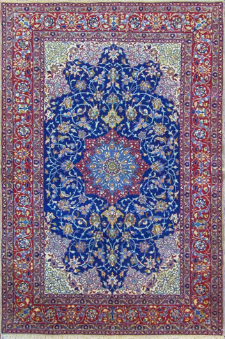 Very Fine Persian Isfahan Rug
