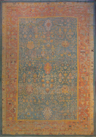 Amazing Antique Oushak Carpet