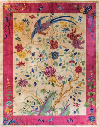 Antique Art Deco Carpet, Unique Design and Color